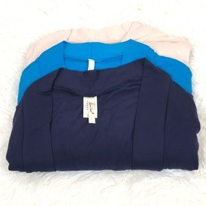 Isaac Liev Women's Open Front Cardigan 3 Pack NWOT